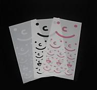 Simple Design Smile Face Pattern Sticker(3 PCS)