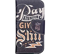 Patterned Leather Card Holder Cover for iPod Touch 5/6 with Stand - Words