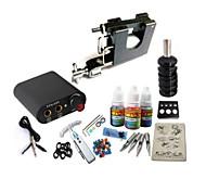 kit de tatouage basekey jh559 1 3in1 machine à la main avec des poignées d'alimentation 3x10ml encre