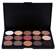 15 Colors Professional 2in1 Natural Matte&Shimmer Smoky Eyeshadow/Eyebrow Powder Cosmetic Palette(2 Color Choose)
