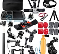 Gopro Accessories 28 in 1 Case Monopod Tripod Float Bobber Chest strap Gopro Hero 4 3 3+ 2 Xiaomi yi Camera Accessories