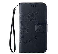 Embossed Butterfly Purse Style with Lanyard Phones for Nokia BQ M5 E5 X5