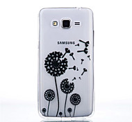 Dandelion Pattern Black Printing Transparent TPU Material Phone Case for Samsung Galaxy G360/G530