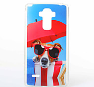 Glasses Dog Pattern TPU+IMD Soft Case for LG LS770