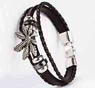 érable forme pu bracelet pour hommes