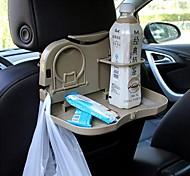 coche ziqiao asiento plegable hacia atrás reposacabezas comedor viajes bandeja de bebidas titular titular / teléfono multifuncional