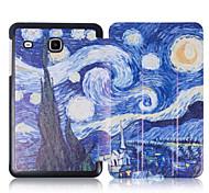 para Samsung galaxy tab 8.0 e t377v de lujo delgada de la PU de la individualidad soporte de cuero Funda de piel cubierta de la cáscara