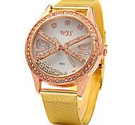Women's Sparkle Design Gold Alloy Band Quartz Wristwatch
