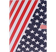 o caso de corpo inteiro americano do projeto da bandeira de couro pu com suporte e slot para cartão de ipad pro ar 9.7 / ipad 3 / ipad