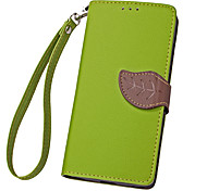 For Alcatel Case Card Holder / with Stand / Flip Case Full Body Case Solid Color Hard PU Leather Alcatel