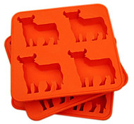 Silicone Novelty Bull Shaped Ice Cube Tray Chocolate Mould Cream Mould