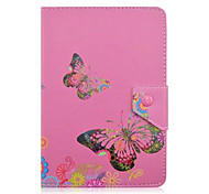 Butterfly Flower Pattern 7 Inch Tablet Case Universal Leather Stand Case Cover For 7 Inch Tablet PC Magnetic Flip Cover