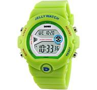 Women's Fashion Sporty Candy Color LCD Digital Waterproof Sport Watch