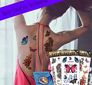 16Pcs/Lot New Design Fashion Temporary Tattoo Stickers Temporary Body Art Waterproof Tattoo Pattern