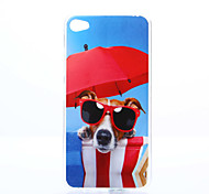 Glasses Dog Pattern TPU+IMD Soft Case for Lenovo S90