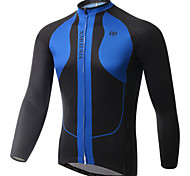 Blue Xintown Cycling Bike Long Jersey Bicycle Clothing Sportwear