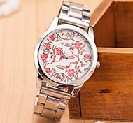 Mulheres Relógio de Moda Simulado Diamante Relógio Quartzo Lega Banda Prata Prata