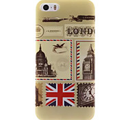 Vintage Stamps Design IMD+TPU Back Cover Case iPhone SE iPhone 5 iPhone 5S