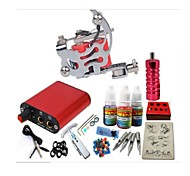 Basekey Tattoo Kit JH550  1 Machine With Power Supply Grips 3x10ML Ink