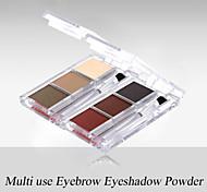 rojo&negro 3 colores ceja paleta de sombra de ojos mate de larga duración 3,6 g polvo fino