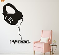 AYA™ DIY Wall Stickers Wall Decals, I Love Music PVC Wall Stickers
