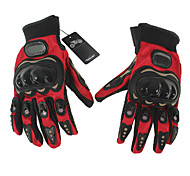 Pair Full Finger Gloves Cycling Bicycle Motorcycle Outdoors Sports Red L