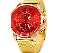 Women's Casual Design Gold Alloy Band Quartz Wristwatch Cool Watches Unique Watches