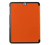 Para Funda Samsung Galaxy con Soporte / Flip / Magnética / Origami Funda Cuerpo Entero Funda Un Color Cuero Sintético Samsung Tab S2 9.7