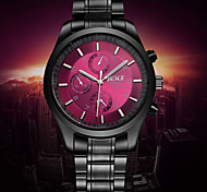Men's Japanese Analog Quartz Black Steel Band Water Resistant Dress Watch Jewelry Cool Watch Unique Watch