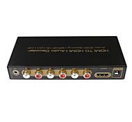 HD1080p hdmi entrée de décodeur audio HDMI avec audio edid boîte de convertisseur de réglage adaptateur, 5.1digital decorder SPDIF 3.5