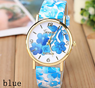 Ladies' Fashion Watch Retro Garden Flowers Fashion Belt Quartz Watch