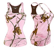 Women Outdoor Casual Leisure Camo Realtree Tshirt Fashion Summer Top Sexy Vest Hunting Fishing Gallus