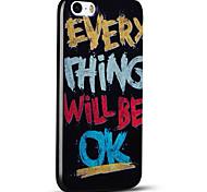 em relevo tudo vai ficar ok caso do iphone ultra fino protetor tampa traseira macia para 5s iphone / iphone SE / iphone 5