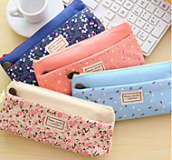 Pastoral Pure And Fresh And Small Broken Flower Nectar Double Zipper Pen Bag, Stationery Bag Receive Pen Bag