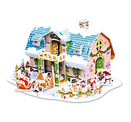 The Christmas Gift Smart House Dreamlike Cottage 3D Puzzles(38PCS)