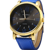 Men's Fashion Dial PU Band Quartz Watch Wrist Watch Cool Watch Unique Watch