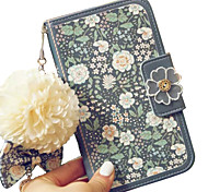 For iPhone 6 Case / iPhone 6 Plus Case Wallet / Card Holder / Flip / Pattern Case Full Body Case Flower Hard Genuine LeatheriPhone 6s
