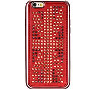 Niet Leder Serie USA-Flagge Muster rot Plattierung goldenen runden-Punkte weicher TPU Fall für iphone6 / 6s