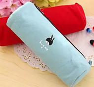 Small Animal Cute Cartoon  Pencil Circular Knit Canvas Bag
