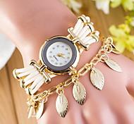 Women's Quartz Watch Fashion Bracelet Leaf Pendant Watch Cool Watches Unique Watches