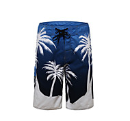 Clothin Men's Quick-dry Water Shorts Outdoor Boardshorts Cool Surf Beach Blue and White