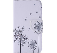 Black Dandelion Painted PU Phone Case for Galaxy J5 (2016)/J1(2016)