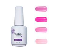ILuve Gel Nail Polish Set - Pack Of 4 - Long Lasting 3 Weeks Soak Off UV Led Gel Varnish – For Nail Art #4046