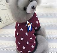 Собаки Футболка Синий / Сирень-розовый Одежда для собак Зима / Весна/осень Звезды На каждый день