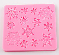 Snowflakes Shape Flip Sugar Sugar Cake Mold Decoration Mold Tool Diy Baking Tools
