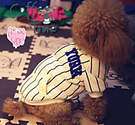 Handsome Stripe Pet Baseball Fleece Coat