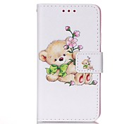 For Samsung Galaxy Case Card Holder / with Stand / Flip / Magnetic / Pattern Case Full Body Case Cartoon PU Leather Samsung A3(2016)