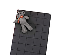 Grid Pattern with Cute Rabbit PU Leather with Stand Smart Case for iPad Air(Assorted Corlors)