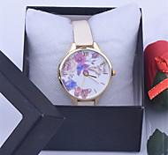 Leather GENEVA HIBISCUS Flower Watch Women Dress Watch,New Fashion quartz watches Women orologio uomo relogio