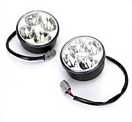 2X 4W High Power White 4 Led Car Drl Daytime Daylight Running Fog Light Lamp